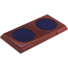 RECTANGLE WOODEN BASE - (2 x 76MM RECESS)      8.75 x 4.25in