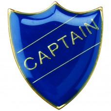 SCHOOL SHIELD BADGE (CAPTAIN) - BLUE 1.25in