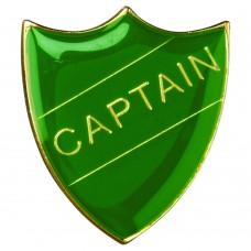 SCHOOL SHIELD BADGE (CAPTAIN) - GREEN 1.25in
