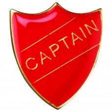 SCHOOL SHIELD BADGE (CAPTAIN) - RED 1.25in