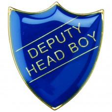 SCHOOL SHIELD BADGE (DEPUTY HEAD BOY) - BLUE  1.25in