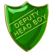 SCHOOL SHIELD BADGE (DEPUTY HEAD BOY) - GREEN 1.25in