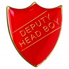 SCHOOL SHIELD BADGE (DEPUTY HEAD BOY) - RED   1.25in