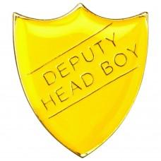 SCHOOL SHIELD BADGE (DEPUTY HEAD BOY) - YELLOW 1.25in
