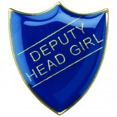 SCHOOL SHIELD BADGE (DEPUTY HEAD GIRL) - BLUE 1.25in
