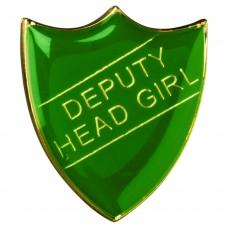 SCHOOL SHIELD BADGE (DEPUTY HEAD GIRL) - GREEN 1.25in