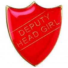 SCHOOL SHIELD BADGE (DEPUTY HEAD GIRL) - RED  1.25in