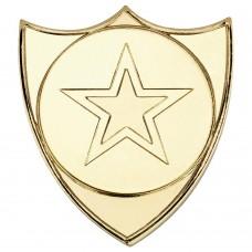 SHIELD BADGE (1in CENTRE) - GOLD - 1.5in
