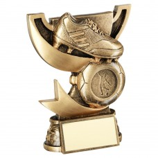 BRZ/GOLD CUP RANGE FOR FOOTBALL TROPHY (1in CENTRE) - 4.25in
