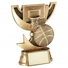BRZ/GOLD CUP RANGE FOR BASKETBALL TROPHY - 4.25in