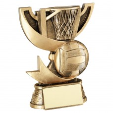 BRZ/GOLD CUP RANGE FOR NETBALL TROPHY - 4.25in