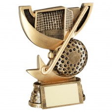 BRZ/GOLD CUP RANGE FOR HOCKEY TROPHY - 4.25in