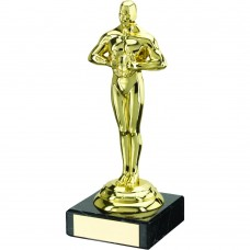 GOLD PLASTIC AND MARBLE ACHIEVEMENT TROPHY - 6.5in