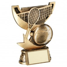 BRZ/GOLD CUP RANGE FOR TENNIS TROPHY - 4.25in