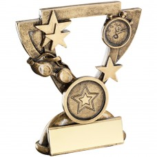 BRZ/GOLD SWIMMING MINI CUP TROPHY - (1in CENTRE) 3.75in