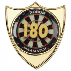 DARTS '180' METAL SHIELD BADGE - 1.5in