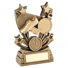 BRZ/GOLD SHOOTING STAR SERIES ATHLETICS TROPHY (1in CENTRE) - 4in