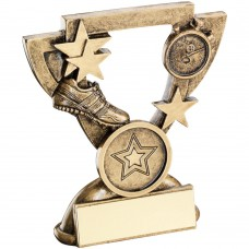 BRZ/GOLD ATHLETICS MINI CUP TROPHY - (1in CENTRE) 3.75in