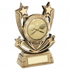 BRZ/GOLD SHOOTING STAR SERIES WITH SQUASH INSERT TROPHY - 5in