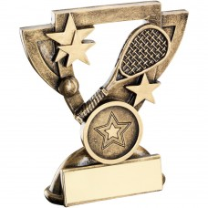 BRZ/GOLD SQUASH MINI CUP TROPHY - (1in CENTRE) 3.75in