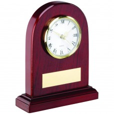 ARCHED WOODEN CLOCK TROPHY - 6in
