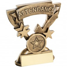 BRZ/GOLD ATTENDANCE MINI CUP TROPHY - (1in CENTRE) 3.75in
