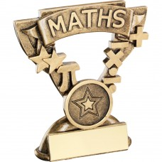 BRZ/GOLD MATHS MINI CUP TROPHY - (1in CENTRE) 3.75in