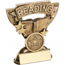 BRZ/GOLD READING MINI CUP TROPHY - (1in CENTRE) 3.75in