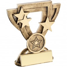 BRZ/GOLD GENERIC MINI CUP TROPHY (1in CENTRE) - 3.75in