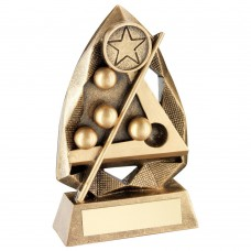 BRZ/GOLD POOL/SNOOKER DIAMOND COLLECTION TROPHY (1in CENTRE) - 5in