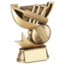 BRZ/GOLD CUP RANGE FOR CRICKET TROPHY - 4.25in
