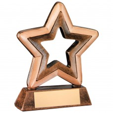 BRZ/GOLD RESIN GENERIC MINI STAR TROPHY -       3.75in