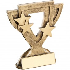 BRZ/GOLD GENERIC MINI CUP TROPHY - 3.75in