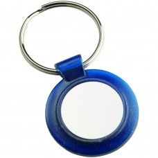 ROUND KEYRING - BLUE (1in CENTRE) 1.5in