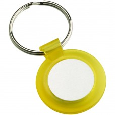 ROUND KEYRING - YELLOW (1in CENTRE) 1.5in