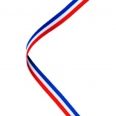 NARROW MEDAL RIBBON RED/WHITE/BLUE - 30x0.4in