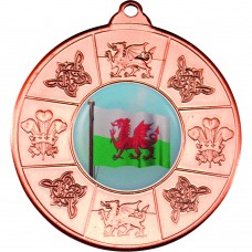 WALES MEDAL (1in CENTRE) - BRONZE 2in