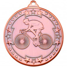 CYCLING 'TRI STAR' MEDAL - BRONZE 2in