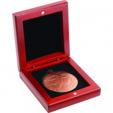 ROSEWOOD MEDAL BOX - (50MM RECESS) 3.5in