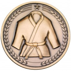 MARTIAL ARTS MEDALLION - ANTIQUE GOLD 2.75in