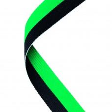MEDAL RIBBON GREEN/BLACK - 30 X 0.875in