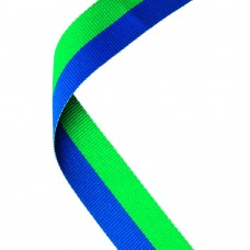 MEDAL RIBBON GREEN/BLUE - 30 X 0.875in