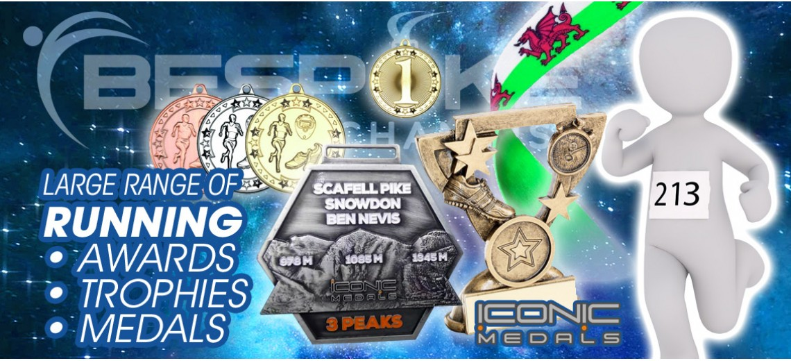 Running Marathon Climbs TROPHIES AWARDS MEDALS